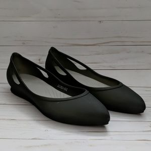 Crocs Rio Pointy Toe Ballet Flat Size 7